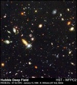 A distant view of space by hubble telescope