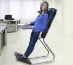 Lean chair makes you work in office for hours without getting haggard.
