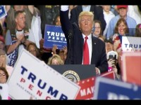 Mr Trump marked his first hundred days as a grand slam, while addressing the crowd in Pennsylvania.