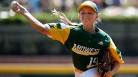 Maddy Freking becomes the sixth girl to play in the Little League World Series, breaking with the team